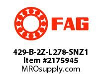 FAG 429-B-2Z-L278-SNZ1 RADIAL DEEP GROOVE BALL BEARINGS