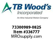 TBWOODS 73300989-0825 73300989-0825 11S T-SF CPLG