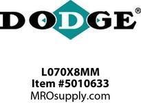 DODGE L070X8MM JAW COUPLING TYPE L COUPLINGS/FLEX CLUTCH