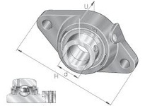 INA LCJT40 Two-bolt flanged unit
