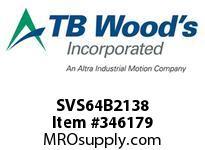 TBWOODS SVS64B2138 SVS-64-B2X1 3/8 ADJ SHEAVE