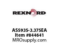 REXNORD AS5935-3.375EA AS5935-3.375 E2-5/32D CHAIN PITCH: 0.75 IN; CAPACITY TYPE