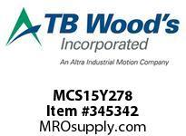 TBWOODS MCS15Y278 MCS-15YX2-7/8 VAR SHEAVE