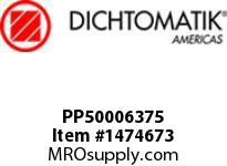Dichtomatik PP50006375 SYMMETRICAL SEAL POLYURETHANE 92 DURO WITH NBR 70 O-RING STANDARD LOADED U-CUP INCH