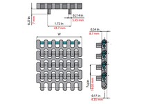 System Plast 261393 LFG2190FG-PT-K300 MPB-INCH