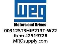 WEG 00312ST3HIP213T-W22 3HP 1200 3 60 575V IEEE-841