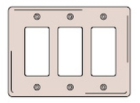 HBL-WDK NP263GY WALLPLATE 3-G 3) RECT GY