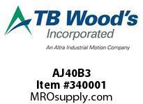 TBWOODS AJ40B3 AJ40-BX3 FF COUP HUB