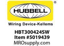 HBL_WDK HBT300424SW WBPRFRM RADI 30 4Hx24W PREGALVSTLWLL