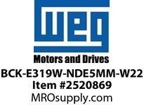 WEG BCK-E319W-NDE5MM-W22 W22 BRG CAP 319 BRG NDE 5MM Motores