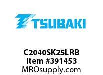 US Tsubaki C2040SK25LRB C2040 RIV 5L/SK-2