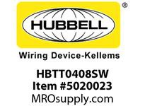 HBL_WDK HBTT0408SW WBPRFRM RADI T 4Hx8W PREGALVSTLWLL