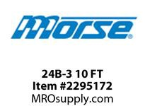 Morse 2361244 24B-3 10 FT MORSE BRIT. STD. ROLLER CHAIN-900