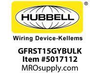 HBL_WDK GFRST15GYBULK 15A COM SELF TEST GFR GRAY BULK