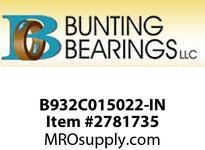 BUNTING B932C015022-IN 1 - 7/8 x 2 - 5/8 x 1 C93200 Cast Bronze Tube C93200 Cast Bronze Tube Bar