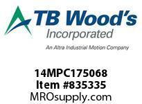 TBWOODS 14MPC175068 14MPC-1750-68 QTPCII BELT