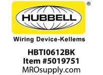 HBL_WDK HBTI0612BK WBPREFORM RADI INTER 6^Hx12^W BLACK