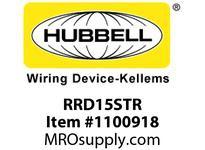 HBL-WDK RRD15STR RCPT DUP DEC TR 15A 125V BR