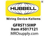 HBL_WDK GFRST15IMP 15A COM SELF TEST GFR IVORY MID SIZE PL