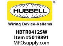 HBL_WDK HBTR0412SW WBPRFRM RADI 90 4Hx12W PREGALVSTLWLL