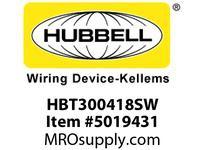 HBL_WDK HBT300418SW WBPRFRM RADI 30 4Hx18W PREGALVSTLWLL