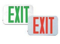 Fulham FHEX20WREM FireHorse Emergency Exit Sign - Mini LED - White housing - Red Letters - Battery Backup