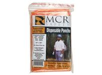 MCR O21 Schooner Jr. .02mm Polyethelene Disposable Poncho Orange