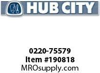 HUBCITY 0220-75579 SS214 50/1 A WR 143TC SS WORM GEAR DRIVE