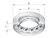 INA GT34 Thrust ball bearing