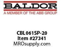 BALDOR CBL061SP-20 CABLE ASSY 240^ PIN
