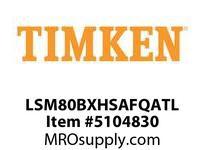 TIMKEN LSM80BXHSAFQATL Split CRB Housed Unit Assembly