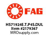 FAG HS71924E.T.P4S.DUL SUPER PRECISION ANGULAR CONTACT BAL