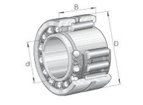 INA NKIA5901 Combination bearing