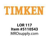 TIMKEN LOR 117 SRB Pillow Block Component