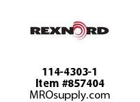 REXNORD 114-4303-1 SHAFT PULLEY 1.44X48IN