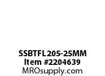 PTI SSBTFL205-25MM THERMOPLASTIC 2-BOLT FLANGE BRG-25M
