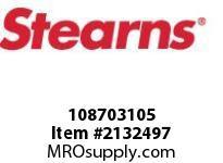 STEARNS 108703105 QF BRAKE ASSY-STD-LESS HUB 8016938