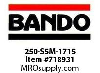 Bando 250-S5M-1715 SYNCHRO-LINK STS TIMING BELT NUMBER OF TEETH: 343 WIDTH: 25 MILLIMETER
