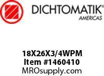 Dichtomatik 18X26X3/4WPM WIPER