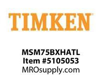TIMKEN MSM75BXHATL Split CRB Housed Unit Assembly