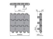 System Plast 25001NGG NGG2250FT-PT-K330 MPB-INCH