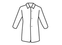 West Chester U1710/XL SBP White Lab Coat No Pocket - Heavy Weight
