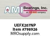 AMI UEFX207NP 35MM WIDE ACCU-LOC NICKEL 2-BOLT FL BALL BEARING