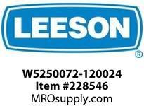 W5250072-120024 GEAR+MOTOR 804LB IN 58RPM 1HP AC 3PH