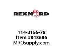 REXNORD 114-3155-78 ATCH WHT8500 F3 N1 BT