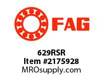 FAG 629RSR SMALL RADIAL DEEP GROOVE BALL BEARI