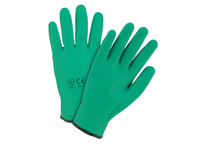 West Chester 710HNFF/L Fully Coated Green Nitrile Foam Water Resistant Cut Resistant Shell. EN388 = 4541 ANSI CUT Level 4