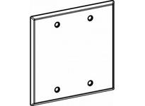 Orbit 2-BC-W 2-G W/P STEEL BLANK COVER - WHITE