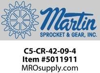 """Martin SprocketC5-CR-42-09-4 CEMA C5 42"""" CI 4"""" DROP RETURN CEMA C 42"""" BELT WIDTH"""