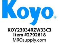 Koyo Bearing 23034RZW33C3 SPHERICAL ROLLER BEARING